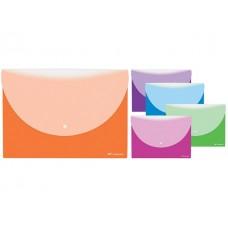 Папка конверт на кнопке А4  2 отделения цветная матовая WM 058000500