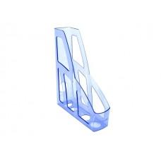 Лоток вертикальный  7см голубой тонированный Лидер ЛТ125