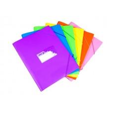 Папка на резинке А4 цветная Tropic Бюрократ TR510