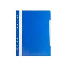 Скоросшиватель А4 с европерфорацией синий глянцевый Бюрократ PS-P20BLU