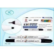 Маркер для дисков MQ-160 черный круглый двухсторонний 0.7мм/2мм
