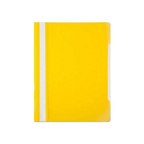 Скоросшиватель А4  желтый глянцевый Бюрократ PS20YEL