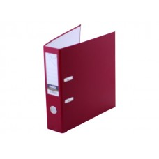 Регистратор  А4/80 Index бордовый с металлической окантовкой 8/24 PVC NEW БОР