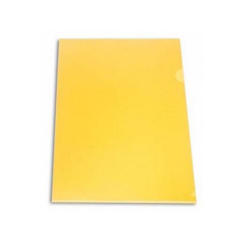 Уголок А4 180мкм желтый матовый Бюрократ E310N/1yel