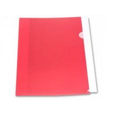 Уголок А4 180мкм красный матовый Бюрократ E310N/1red