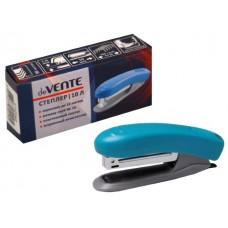 Степлер №10 10л пластик голубой с антистеплером DeVente 4142342