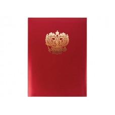 Папка адресная бумвинил А4 Орел красная Имидж ПБ4002-201
