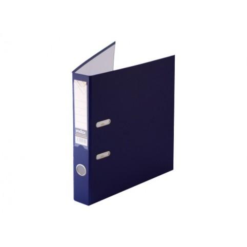 Регистратор  А4/50 Index темно-синий с металлической окантовкой 5/30 PVC NEW ТС