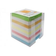 Блок бумажный в боксе цветной 90*90мм 900л  WM 003003300