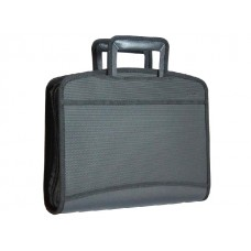 Портфель А4  8 отделений пластик черный на молнии Kanzfile P-PB24