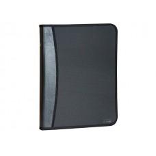 Папка кожзам/пластик А4 на молнии черная 1 отделение 2 кармана Kanzfile PPB-22