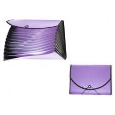 Папка на резинке А4 12 отделений фиолетовая Kanzfile PPV-10 NL6970