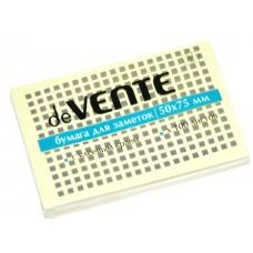 Стикер 50*75мм 100л желтый DeVente 2010308