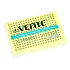 Стикер 50*75мм 100л неон желтый DeVente 2010312