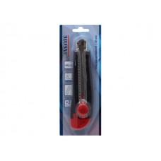 Нож канцелярский 18 мм DeVente черно-красный + лезвия 4090403