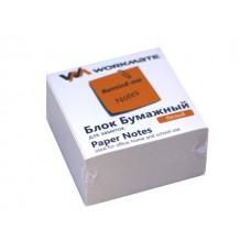 Блок бумажный белый  90*90 мм 500л WM газетка 003005800