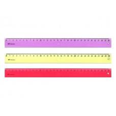 Линейка  30 см прозрачная цветная WM 182001000