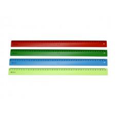 Линейка  40 см неон цветная WM 182001400