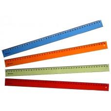 Линейка  40 см прозрачная цветная WM 182001500
