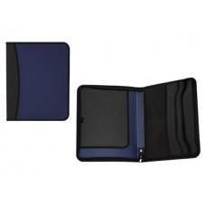 Папка на молнии А4 пластик синяя 1 отделение 2 кармана inФормат PA4-Z02-B