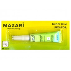 Клей супер   3г Fixator Mazari М-5678