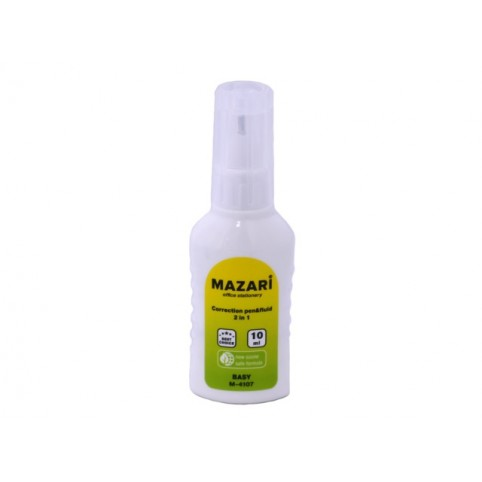 Корректор 2в1 с кисточкой и ручкой 10мл спиртовой Mazari М-4107