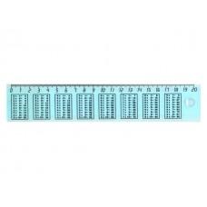 Линейка  20 см прозрачная Таблица умножения DeVente 5091517