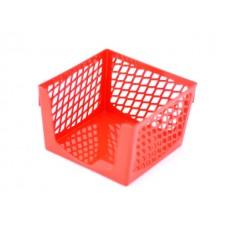 Бокс для бумаги 9*9*7 см DeVente Simple пластик сетка красный 4105500