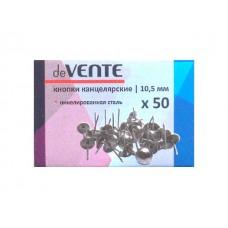 Кнопки  50шт 10.5мм никелированные DeVente 4132403