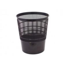 Корзина для бумаг пластик сетка круглая 18л черная Стамм КР01