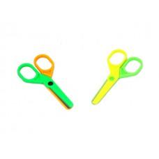 Ножницы детские 10 см пластиковые ручки цветные Basir МС-4035