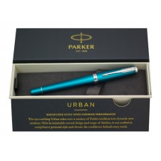 Ручка Parker роллер Urban черная изумрудный корпус 1931585