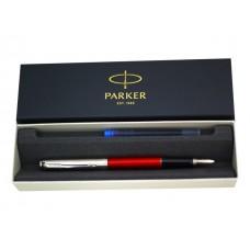 Ручка Parker перьевая Jotter Kensington синяя капсула красный корпус 2030949
