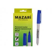 Маркер перманентный Mazari Belar синий круглый 1.5мм М-5004-70