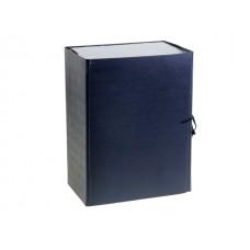 Папка архивная бумвинил на завязках А4 12см синяя Имидж КСБ4120-203