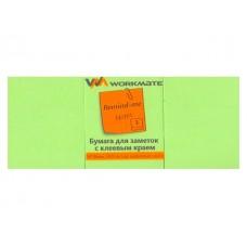 Стикер 50* 40мм 300л (3 блока по 100л) неон зеленый WM 003003804