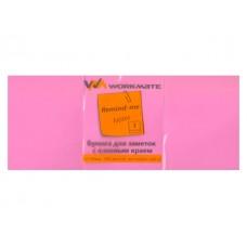 Стикер 50* 40мм 300л (3 блока по 100л) неон пурпурный WM 003003811