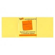 Стикер 50* 40мм 300л (3 блока по 100л) неон желтый WM 003003808