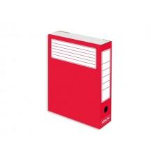 Папка архивная картон А4  7.5см красная Attache 632312