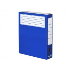 Папка архивная картон А4  7.5см синяя Attache 632311