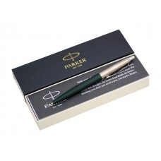 Ручка Parker шариковая автомат Jotter cиняя 1мм зеленый матовый корпус 2068511