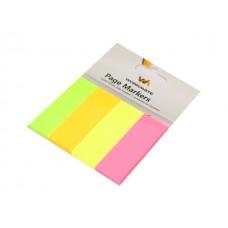 Стикер 20*50мм 160л 4 цвета по 40л неон WM 003007600