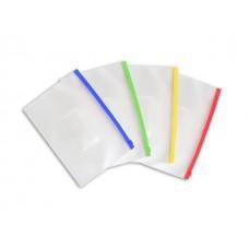 Папка на бегунке А5 с карманом прозрачная цветная 140мкм WM 052000800