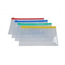 Папка на бегунке DL с карманом прозрачная цветная 130мкм WM 052001000