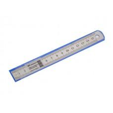 Линейка  15 см металл в чехле WM 182002700