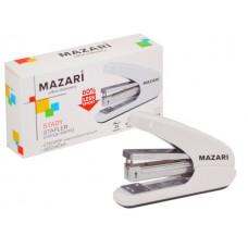 Степлер №24/6-26/6 25л пластик белый Stady энергосберегающий Mazari М-6915
