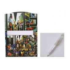 Блок бумажный в магнитном боксе Нью-Йорк 90*90мм 60л + ручка J.Otten H018B