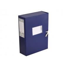 Папка архивная бумвинил на завязках А4  8см цветная Бюрократ BPA-80
