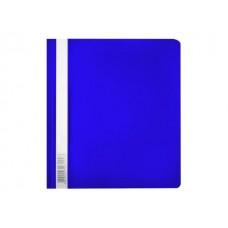 Скоросшиватель А5 синий глянцевый Люкс Бюрократ PSL20A5BLUE