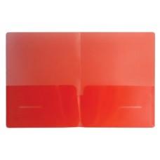 Уголок А4 180мкм 2 кармана красный Бюрократ E570-1